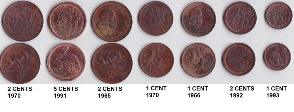 afrique du sud lot de 20 pièces (3 scans)