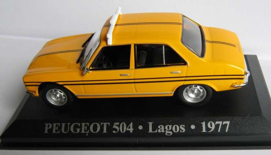 ALTAYA - Peugeot 504 - Taxi LAGOS - Nigéria - Echelle 1/43 ème