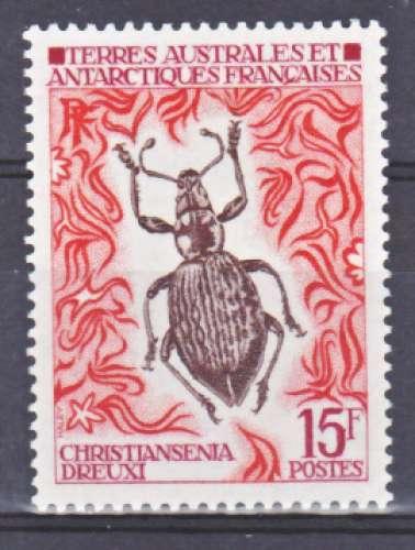 TAAF  49 1/4 de cote FAUNE insecte neuf * * TB MNH SIN CHARNELA cote14