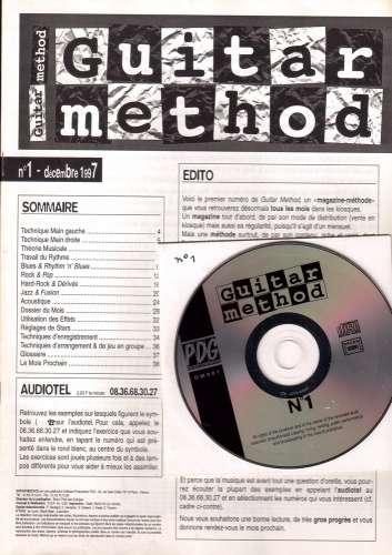 Guitar Method mensuel n° 1 décembre 1997 livret + CD blues, rock, hard, jazz, acoustique