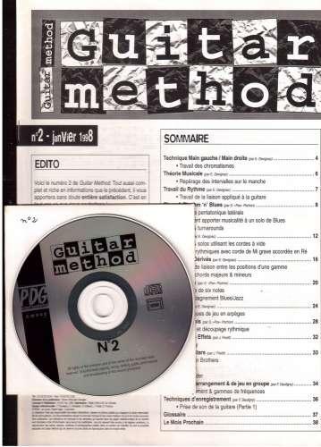 Guitar Method mensuel n°2 janvier 1998  livret + CD blues, rock, hard, jazz, acoustique