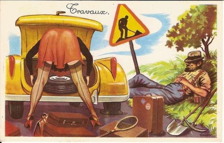 Carrière - Auto - Pin-up - Bas - Code - Travaux - Série 403
