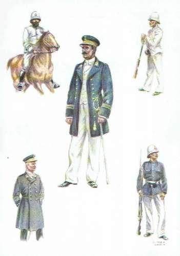 Histoire de la Force Publique du CONGO - Types d'officiers et de sous-officiers vers 1890
