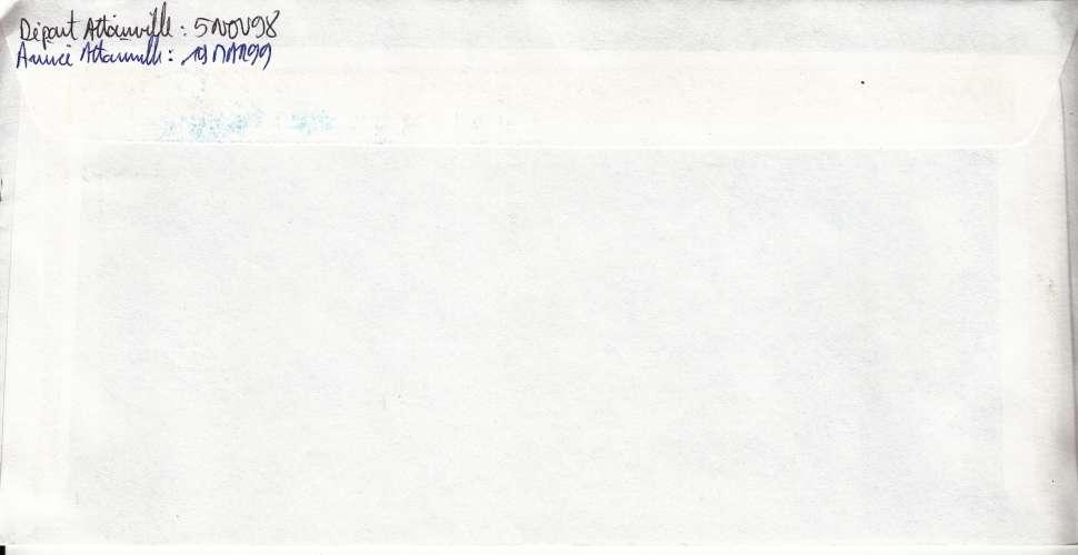 TAAF TERRE ADELIE 1999 LETTRE YT 236 241 247A 50 ANS BASE KERGUELEN BATEAU FLOREAL MANCHOT JUGULAIRE