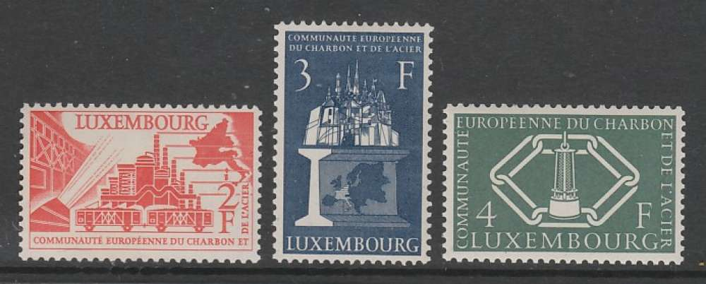 SERIE NEUVE DU LUXEMBOURG - COMMUNAUTE EUROPEENNE DU CHARBON ET DE L'ACIER N° Y&T 511 A 513