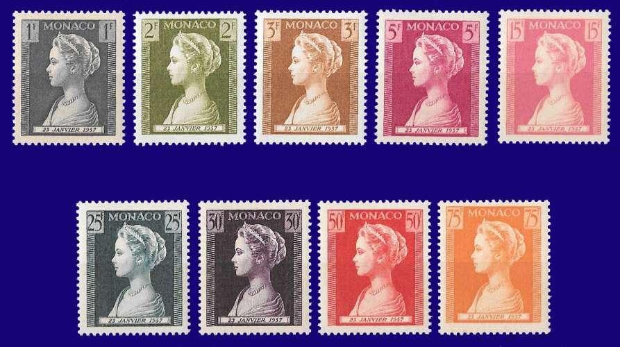 Monaco - Y&T 478 à 486 ** - Naissance de la princesse Caroline - année 1957 - premier choix