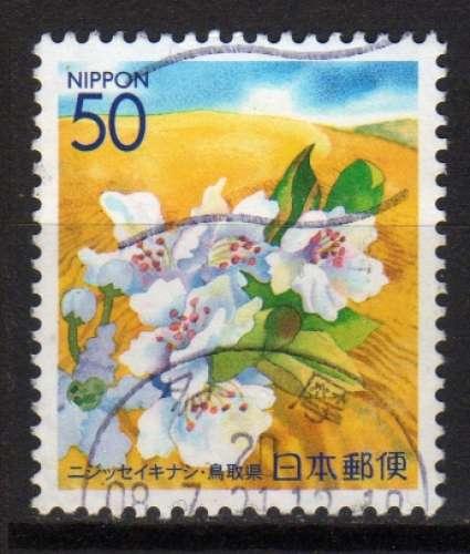 Japon - 2000 - n°2819 (YT)  Préfecture : fleurs blanches (O)