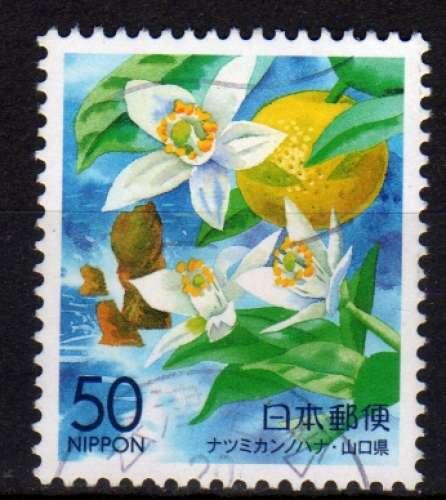 Japon - 2000 - n°2823 (YT)  Préfecture : fleurs diverses (O)