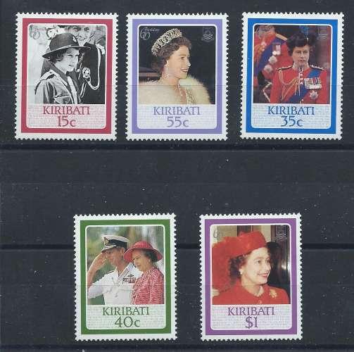 Kiribati N°149/53** (MNH) 1986 - 60 eme anniversaire d'Elizabeth II