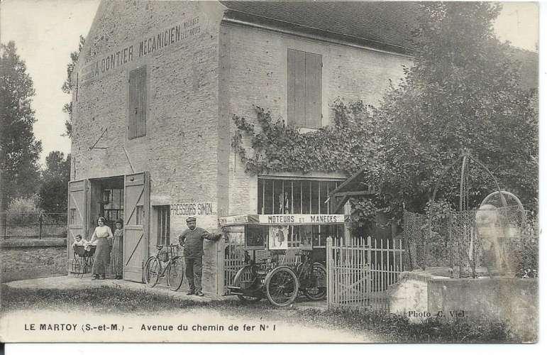 77 - Chailly-en-brie - Le Martoy Mécanique Auto Bicyclettes Pressoirs Manèges