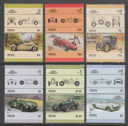SERIE NEUVE DE NEVIS - AUTOMOBILES N° Y&T 369 A 380