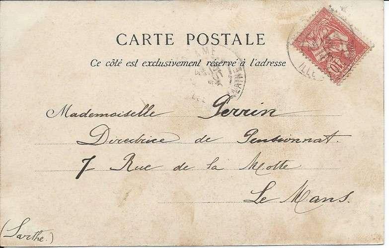 France 1902 Mouchon YT 112 seul sur CPA - 35 - Paramé - Plage - 1903 - Dos scanné