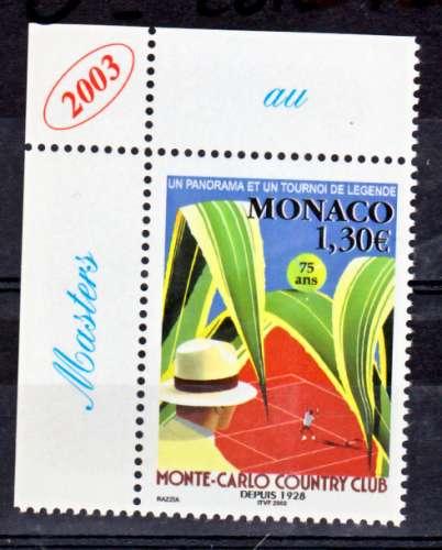 MONACO 2386 sports tennis 2003 vignette master neufs ** luxe MNH prix de la poste 1.3
