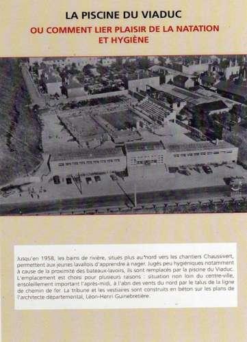 CPCA 51 - LAVAL vue aérienne années 50 - Piscine du viaduc