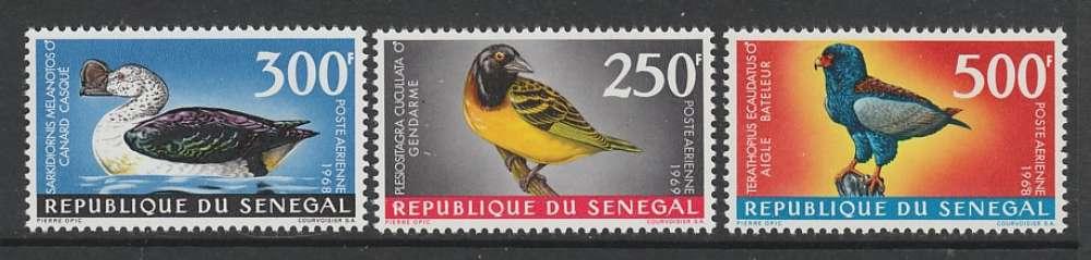 SERIE NEUVE DU SENEGAL - OISEAUX N° Y&T PA 65 A 67
