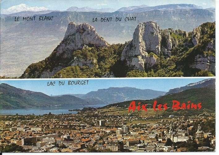 France timbres Taxe YT 96 et 101 sur CPM - 73 - Aix-les-Bains - Dos scanné