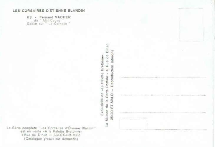 Les Corsaires d'Etienne Blandin : Fernand VACHER dit