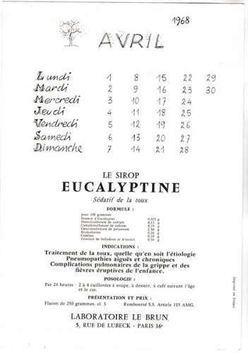 Bellus  Publicité  Laboratoires  Le Brun avril 1968