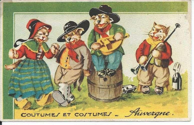 Chats - Coutumes et costumes d'Auvergne - Dos scanné