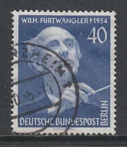 TIMBRE OBLITERE DE BERLIN - ANNIVERSAIRE DE LA MORT DE WILHELM FURTWÄNGLER N° Y&T 113