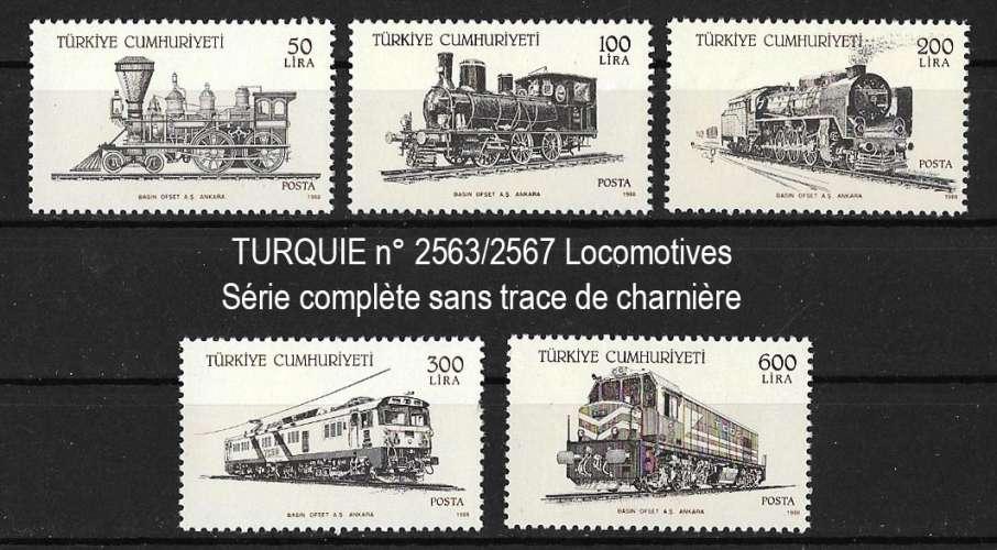 Turquie - Y&T 2563 à 2567 ** - année 1988
