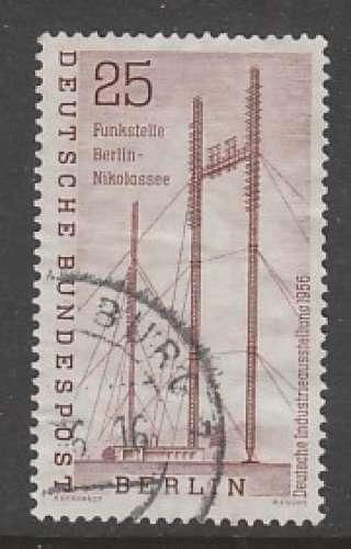 TIMBRE OBLITERE DE BERLIN - STATION RADIO DE NICOLASSEE N° Y&T 138