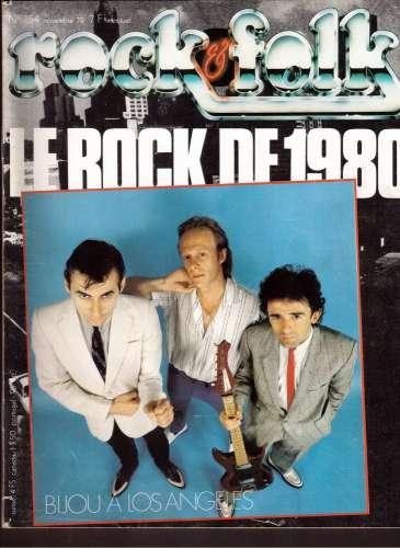 Magazine Rock & Folk n° 154 nov 79 le rock de 1980 Bijou à Los Angeles
