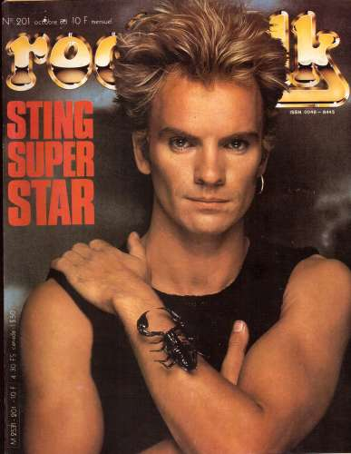 Magazine Rock & Folk n° 201 oct 83  Sting super star - Charlélie Couture - Bernard  Lavilliers