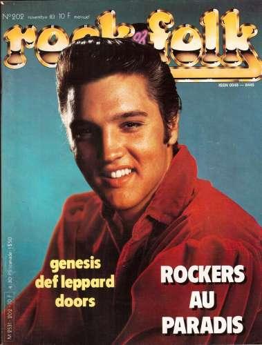 Magazine Rock & Folk n° 202 nov 83  Rockers au Paradis - Genesis - Def Leppard - Doors