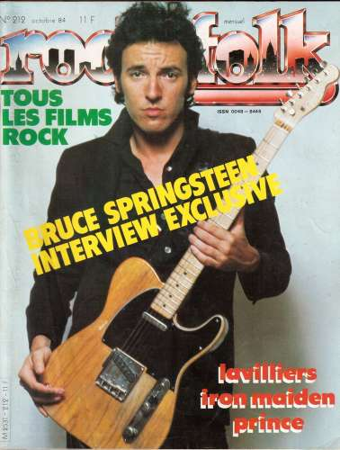 Magazine Rock & Folk n° 212 oct 84 Bruce Springsteen - Lavilliers - Iron Maiden - Prince