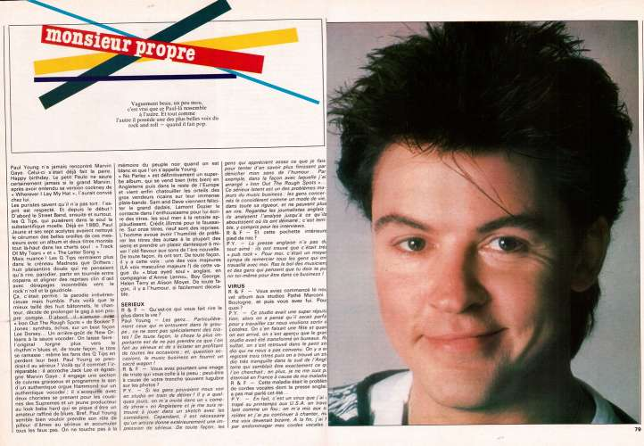 Magazine Rock & Folk n° 215 janv 85 Julian Lennon Mc Cartney - Paul Young...