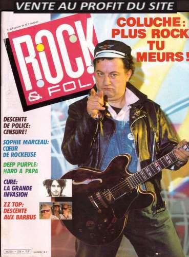 Magazine Rock & Folk n° 226 janv 86 Coluche - Sophie  Marceau - Deep Purple - Cure - ZZ Top