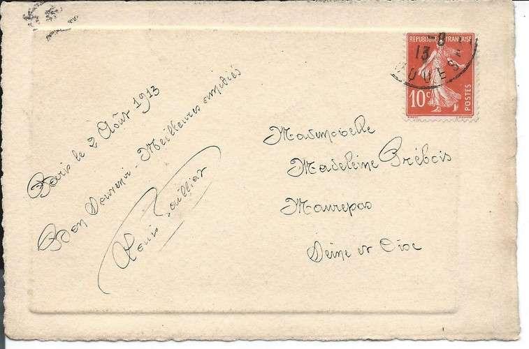 CPA - Superbe Eau Forte en couleur - Devienne - Carte gaufrée - 1913 - Dos scanné