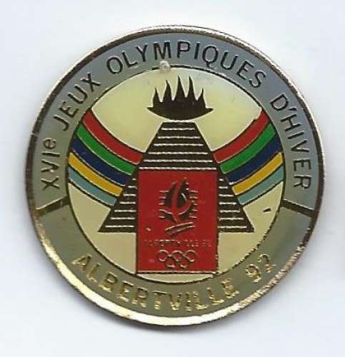 Coffret de 5 pin's officiels Jeux Olympiques d'Hiver Albertville 1992 - Vendu au profit du site