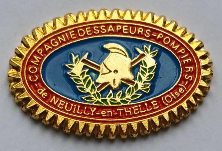 Pin's Compagnie des Sapeurs Pompiers de Neuilly-en-Thelle - Oise - Vendu au profit du site