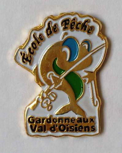 Pin´s Ecole de Pêche Gardonneaux Val d'Oisiens - Vendu au profit du site