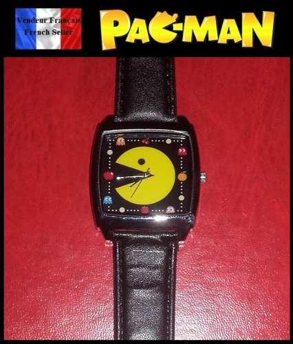 0e6c632dfe5 Montre à quartz NEUVE Bracelet Cuir ! ( Watch ) - Pac-Man Pacman ...