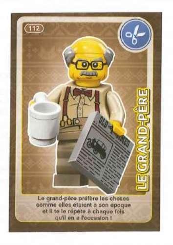 Carte Lego Auchan Livre.Carte A Collectionner Auchan Lego Cree Ton Monde Le Grand Pere 112