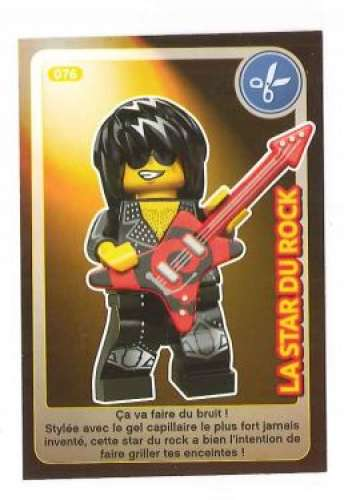 Carte Lego Auchan Livre.Carte A Collectionner Auchan Lego Cree Ton Monde La Star Du Rock 76