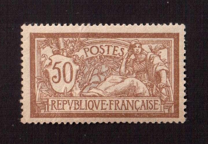 France 1900-1926 Y&T 120 ** Merson 50 c  cote 500€  proposé à moins de 10% de la cote