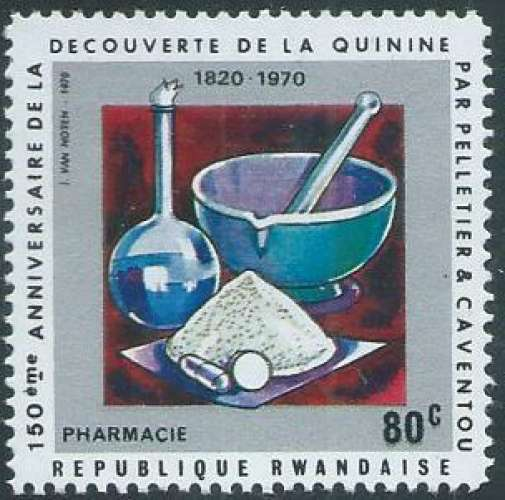 Rwanda - Y&T 0379 (**) - Découverte de la quinine -