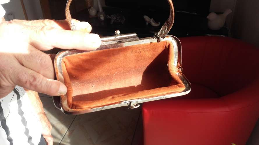 Ancien sac en cuir
