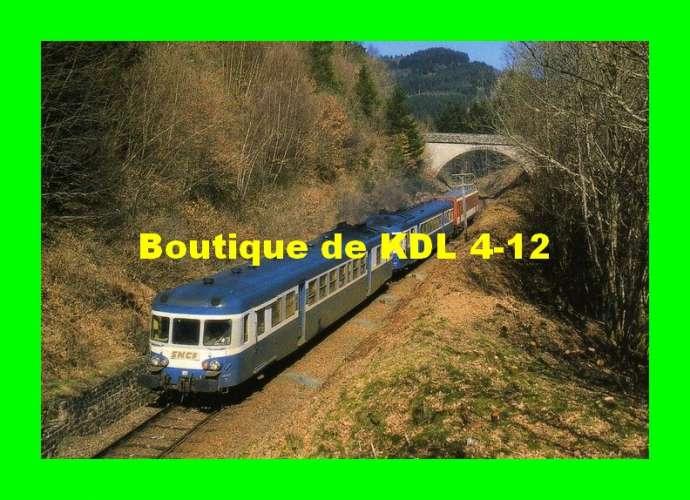 RU 0214 - Autorail X 2876 dans la rampe du Col de la Saulière vers AMBRUGEAT - Corrèze - SNCF