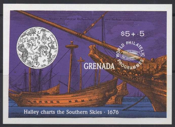 Grenade Hb 210 - Expo philatélique : bateaux anciens