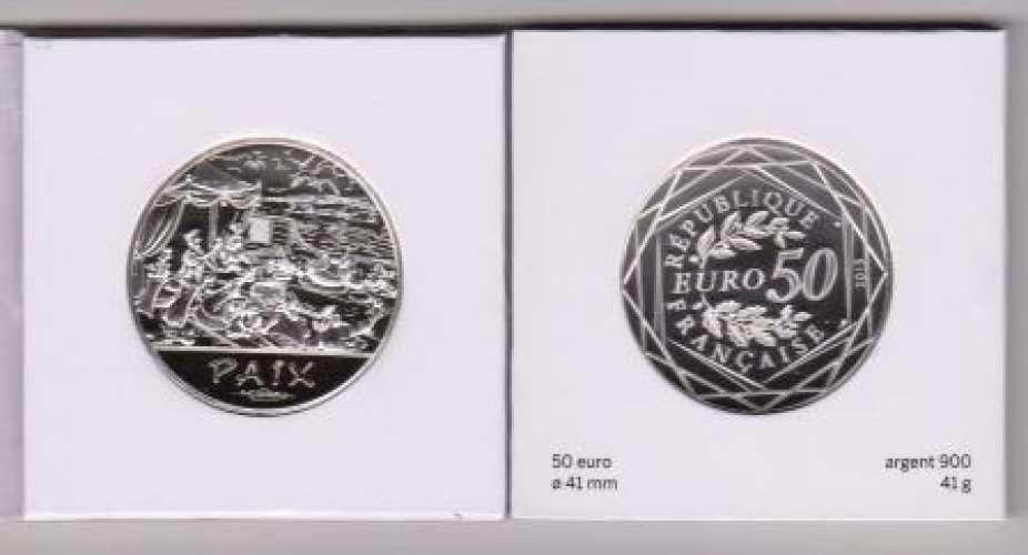 Pièce Valeurs de la République 2015 - 50 Euros argent