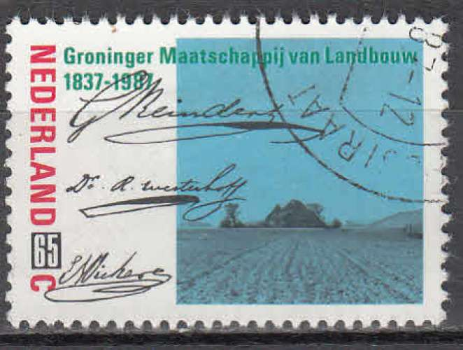 Pays-Bas 1987  Y&T  1292  oblitéré