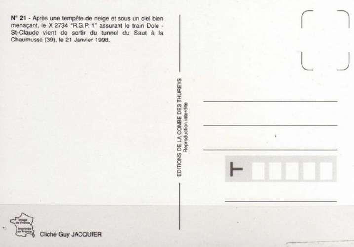 RU CT 21 - Autorail RGP X 2734 vers LA CHAUMUSSE - Jura - SNCF