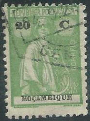 Mozambique - Y&T 0166A (o) - Année 1913 -