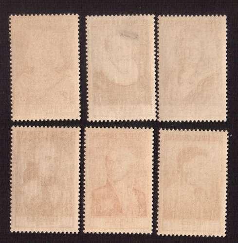 France 1955  Y&T 1027 à 1032 **  célébrités du XIIe au XXe siècles dite série Renoir cote 160€
