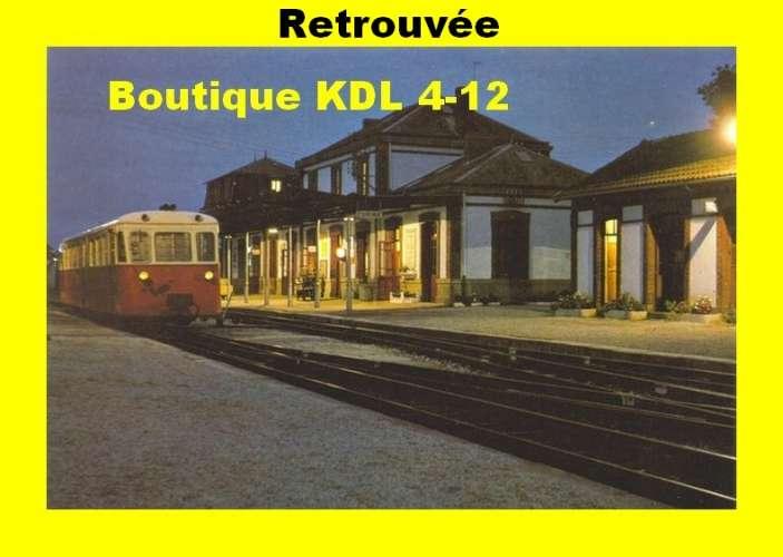 FACS 04 - Autorail De Dion Bouton OC 2 en gare - CARHAIX - Finistère - RB